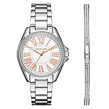 Michael Kors Ladies' Stainless Steel Bracelet Watch Gift Set - Product number 6070132