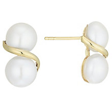 9ct Yellow Gold Cultured Freshwater Pearl Earrings - Product number 6074782