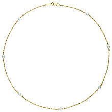 9ct Yellow Gold Cultured Freshwater Pearl Twist Necklace - Product number 6075037