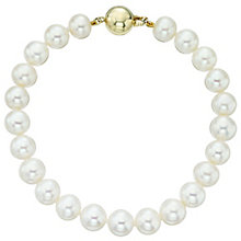9ct Yellow Gold Cultured Freshwater Pearl Bracelet - Product number 6075053