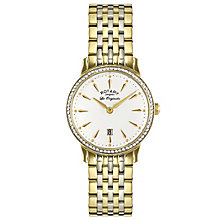Rotary Ladies' Two Tone Gold Plated Bracelet Watch - Product number 6077390
