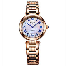 Rotary Ladies' Rose Gold Plated Bracelet Watch - Product number 6077439
