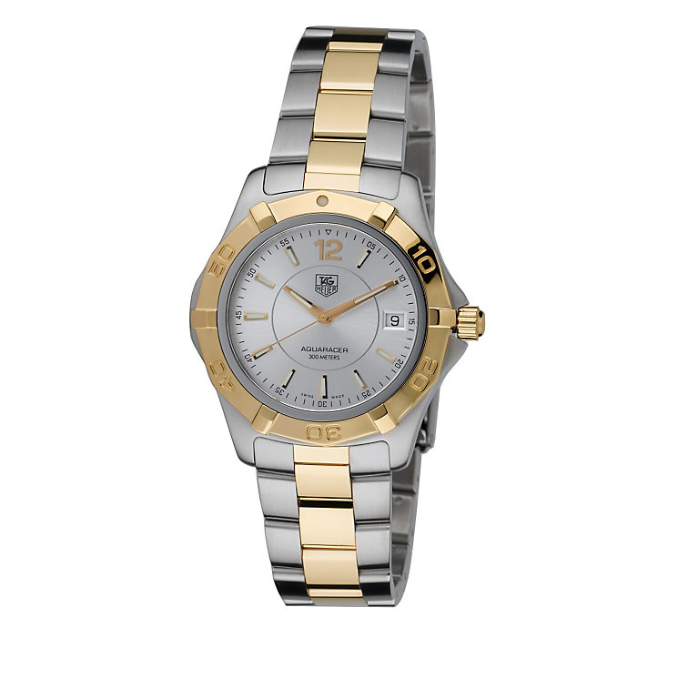 TAG Heuer Aquaracer men's two colour bracelet watch - Product number 6077846