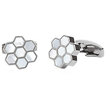 Simon Carter Honeycomb Gunmetal Cufflinks - Product number 6080634