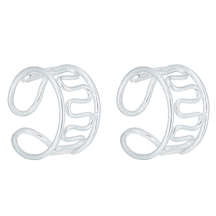 Sterling Silver Wiggle Ear Cuffs - Product number 6081495