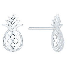Sterling Silver Pineapple Stud Earrings - Product number 6081541