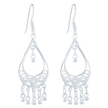 Sterling Silver Filigree Drop Earrings - Product number 6081703