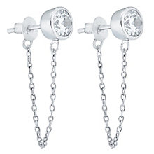 Sterling Silver Cubic Zirconia Front & Back Drop Earrings - Product number 6081746