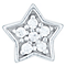 Sterling Silver Cubic Zirconia Set Star Single Stud Earring - Product number 6081800