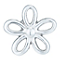 Sterling Silver Open Flower Single Stud Earring - Product number 6081967