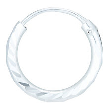 Sterling Silver Diamond Cut Single Hoop Earring - Product number 6081983