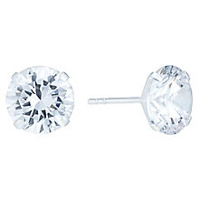 Sterling Silver 10mm Cubic Zirconia Stud Earrings - Product number 6082319