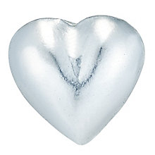 Sterling Silver Plain Heart Single Stud Earring - Product number 6082440