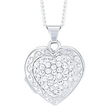 Sterling Silver Crystal Set Heart Locket - Product number 6082998
