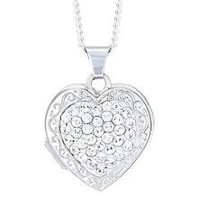 Sterling Silver Crystal Set Heart Locket - Product number 6082998