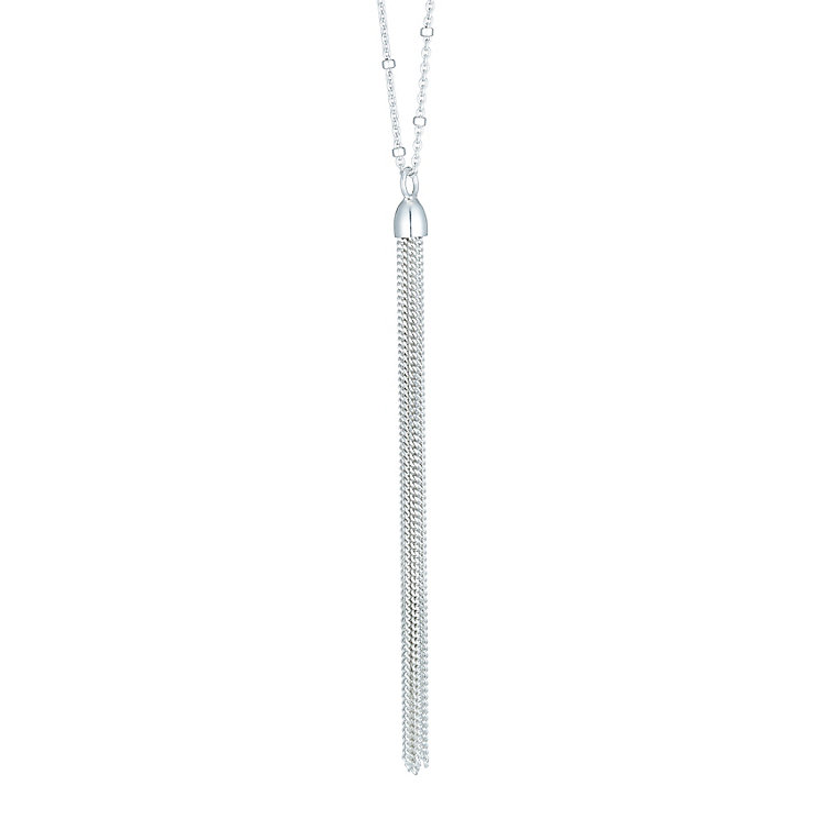Sterling Silver Tassel Necklace - Product number 6083390