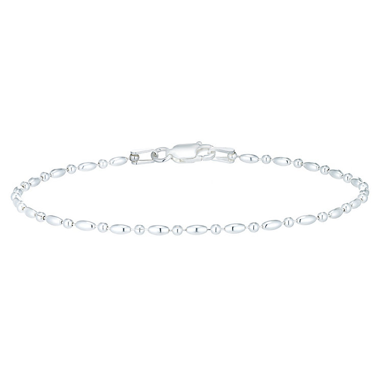 Sterling Silver Oval Bead Bracelet - Product number 6083854