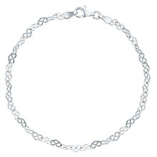 Sterling Silver Heart Link Bracelet - Product number 6083870