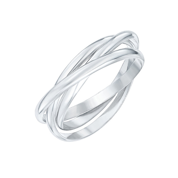 Sterling Silver Intertwined Russian 3 Band Ring Size L - Product number 6083919
