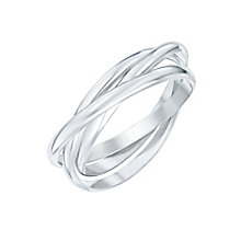 Sterling Silver Intertwined Russian 3 Band Ring Size S - Product number 6083927