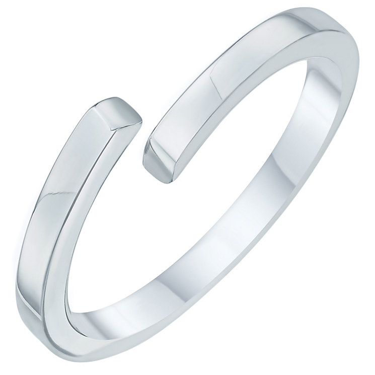 Sterling Silver Plain Crossover Ring Size N - Product number 6083951