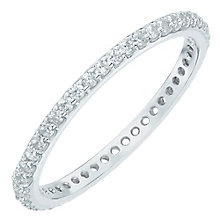 Sterling Silver Cubic Zirconia Set Full Eternity Ring Size L - Product number 6084044