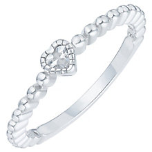 Sterling Silver Cubic Zirconia Heart Ring Size N - Product number 6084095