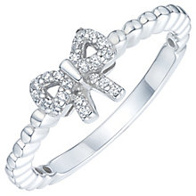 Sterling Silver Cubic Zirconia Bow Ring Size P - Product number 6084133