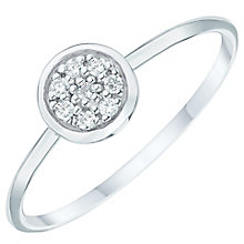 Sterling Silver Cubic Zirconia Pave Round Ring Size N - Product number 6084338