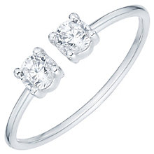 Sterling Silver Round Cubic Zirconia Set Open Ring Size N - Product number 6084362