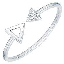 Sterling Silver Cubic Zirconia Set Arrow Open Ring Size N - Product number 6084397