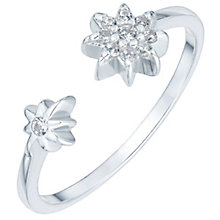 Sterling Silver Cubic Zirconia Star Open Ring Size L - Product number 6084753