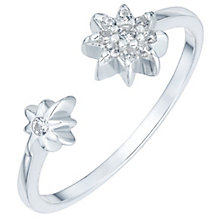 Sterling Silver Cubic Zirconia Star Open Ring Size N - Product number 6084761