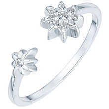 Sterling Silver Cubic Zirconia Star Open Ring Size P - Product number 6084788