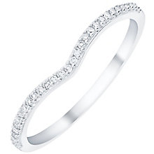 9ct White Gold Diamond Set Shaped Band - Product number 6085180
