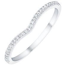 9ct White Gold Diamond Set Shaped Band - Product number 6085180