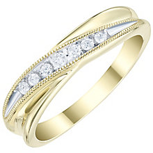 9ct Gold 0.10 Carat Diamond Set Band - Product number 6085865