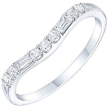 9ct White Gold 1/5 Carat Diamond Set Shaped Band - Product number 6086691