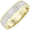 9ct Gold 0.10 Carat Diamond 2 Row Band - Product number 6087671