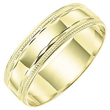 Men's 9ct Gold Milgrain Patterned Band - Product number 6089828