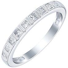 18ct White Gold 1/3 Carat Princess Cut Diamond Set Band - Product number 6090214