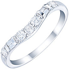 18ct White Gold 1/4 Carat Diamond Set Shaped Band - Product number 6090354