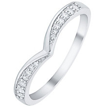 Platinum 0.10 Carat Diamond Set Wishbone Shaped Band - Product number 6091245