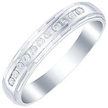 Platinum 0.10 Carat Diamond Channel Set Band - Product number 6091512