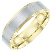 Palladium 950 & 9ct Gold Matt Band - Product number 6091784