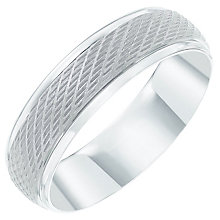 Palladium 950 Central Matt Patterned 6mm Band - Product number 6091911