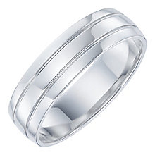 Palladium Groove Design Ring - Product number 6092225