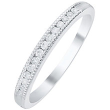 Palladium 0.12 Carat Diamond Milgrain Detail Band - Product number 6092624