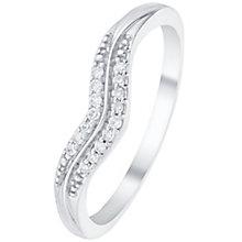 Palladium Double Row Diamond Set Shaped Band - Product number 6092756