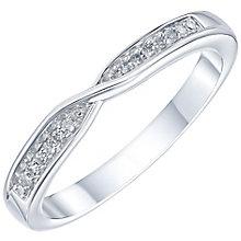Palladium Diamond Set Crossover Band - Product number 6092896